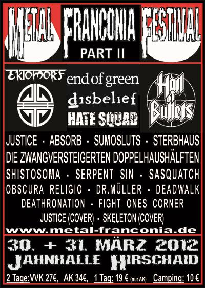 Flyer Metal Franconia Festival  Part II