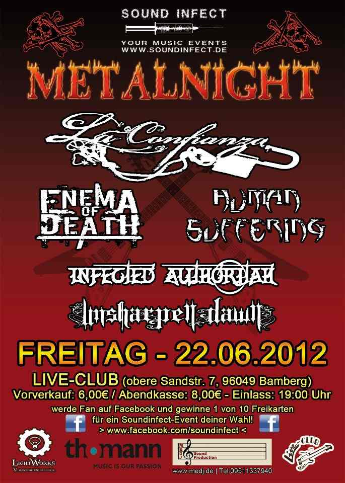 Flyer Sound Infect - Metalnight