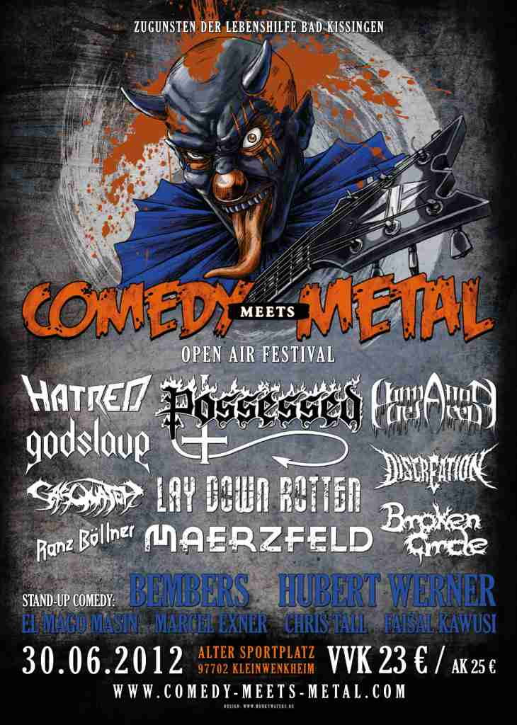 Flyer Comedy meets Metal 2012