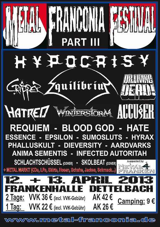 Flyer Metal Franconia Festival Part III