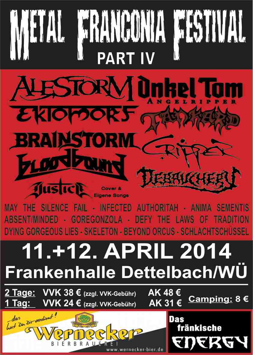 Flyer Metal Franconia Festival Part IV