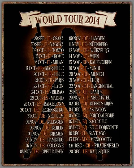 Flyer Gotthard World Tour